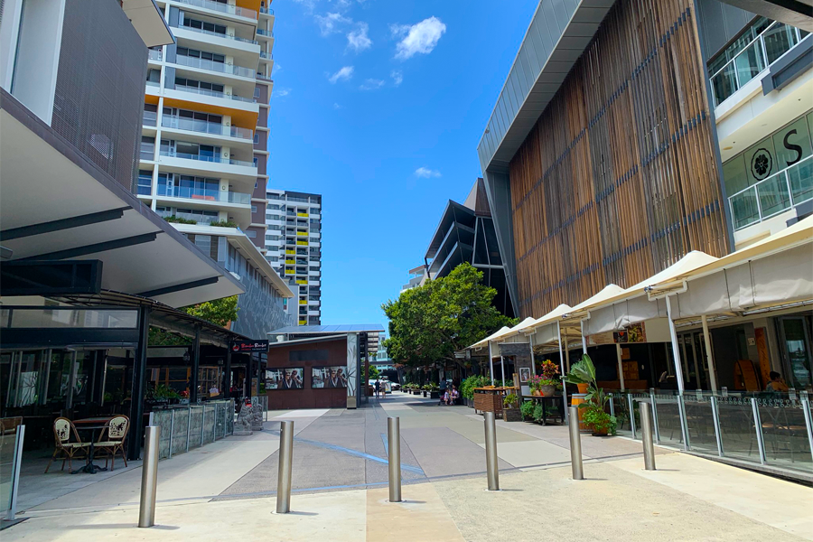 The new riverside development in Hamilton, Brisbane