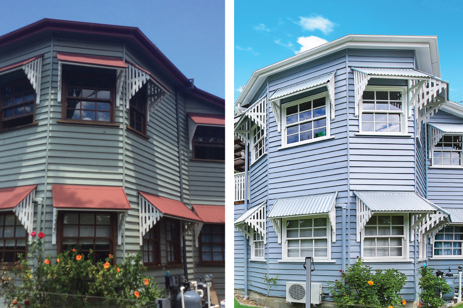 transformation of a property on Parry St, Bulimba